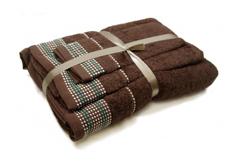 """Trijų rankšluosčių komplektas """"Dark Brown"""""""